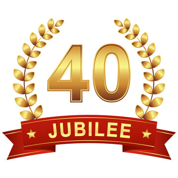 Jubilee button with banner 40 years