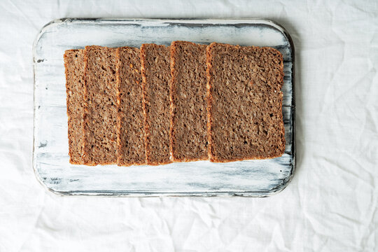 Traditional german rye bread with seeds