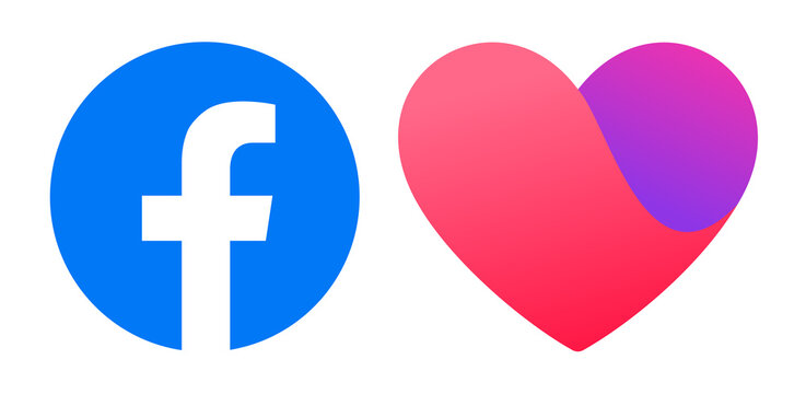 Facebook and Dating Apps icons, vector illustration