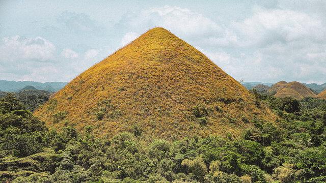 Chocolat Hills of Bohol, Philippines.