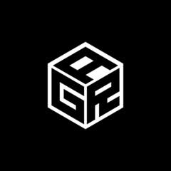 Fototapeta GRA letter logo design with black background in illustrator, vector logo modern alphabet font overlap style. calligraphy designs for logo, Poster, Invitation, etc. obraz