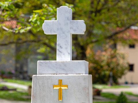 White Marble Cross
