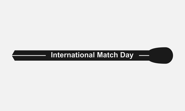 Match stick vector icon isolated on white background. International match day concept.