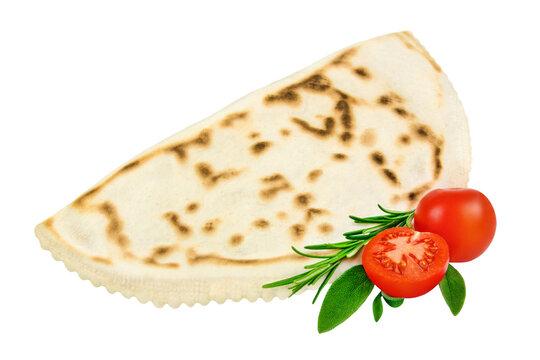 Käse Cascione mit Tomaten und Kräutern