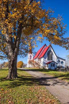 Canada, New Brunswick, Saint John River Valley, Gagetown. St John Anglican Church, b. 1880.