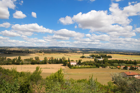 Landscape French Aude near Castelnaudary