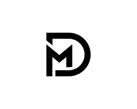 MD DM letter logo design vector template