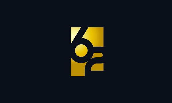 Unique Modern Gold Box Number 62 Logo