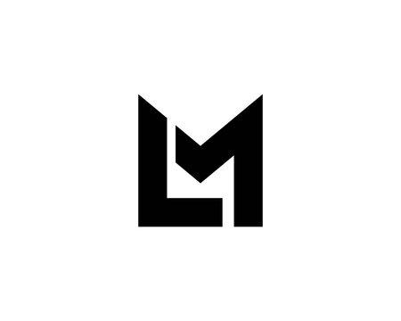 ML LM Letter logo design vector template