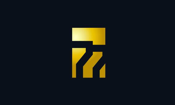 Unique Modern Gold Box Number 77 Logo