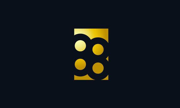 Unique Modern Gold Box Number 88 Logo