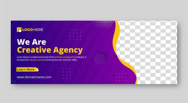 Facebook cover photo design vector templates