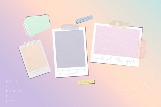 Blank pastel picture frames template