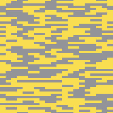 Pattern of many bricks squares of ultimate gray and illumination yellow colors