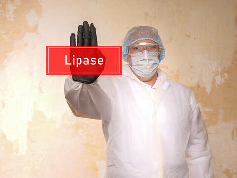 Conceptual photo about Lipase with handwritten phrase.