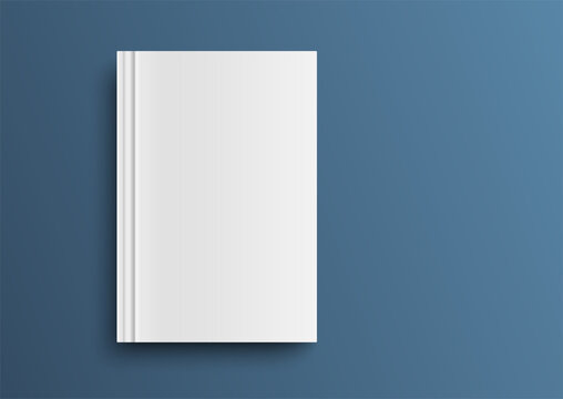 Empty magazine, album or book template.