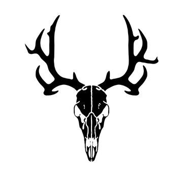 Deer Skull , Hunter silhoette