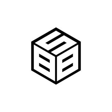 BBS letter logo design with white background in illustrator, vector logo modern alphabet font overlap style. calligraphy designs for logo, Poster, Invitation, etc.