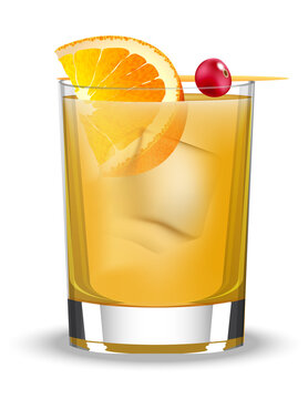 Cocktails Whiskey Sour in Vector format