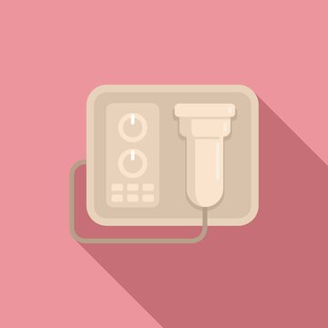 Laser hair removal device icon. Flat illustration of laser hair removal device vector icon for web design