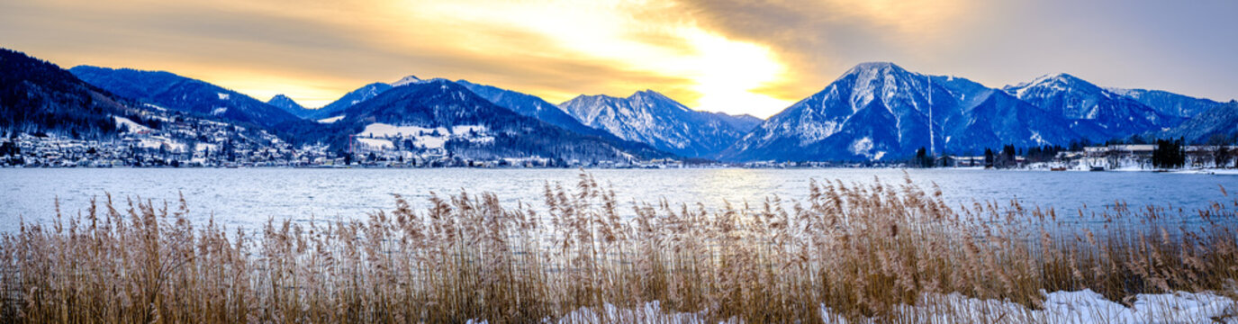 landscape at the Tegernsee lake - Bad Wiessee