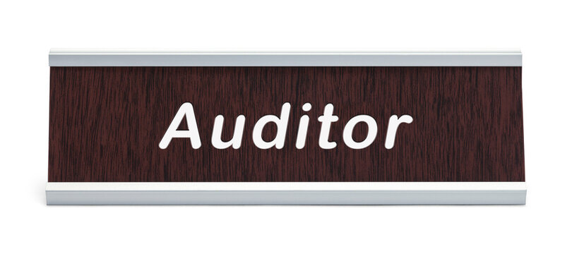 Auditor Name Plate