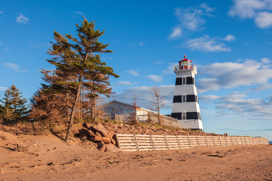 Canada, Prince Edward Island, West Point Lighthouse.