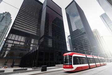 Tramstreetcar in Toronto, Ontario, Canada