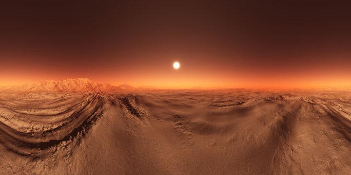 Mars HDRI 360 Map