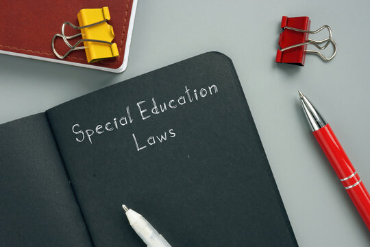 Conceptual photo about Special Education Laws with written phrase.