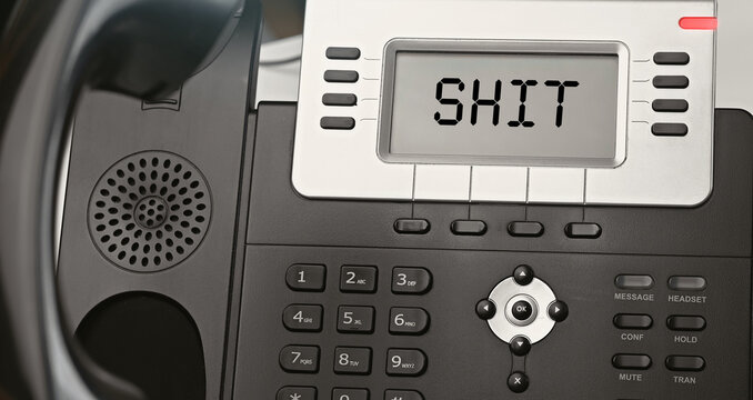 SHIT - concept of text on the IP phone display