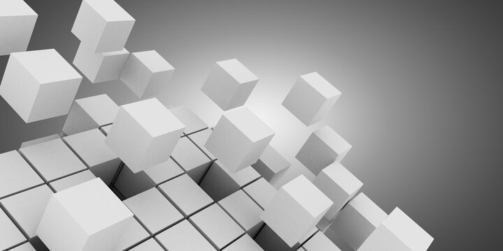 3d abstract background cubes . business concept. 3d illustration