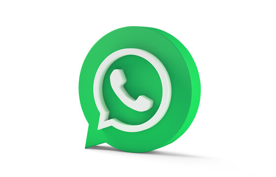 Whats App icon isolated on white background. 3d rendering