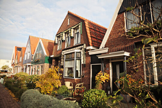 Streets of Volendam, a small village from Netherlands