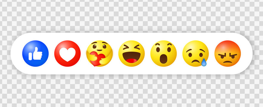 social media emojis, 3d facebook reactions, emoticon while hugging with care - emoji emotion