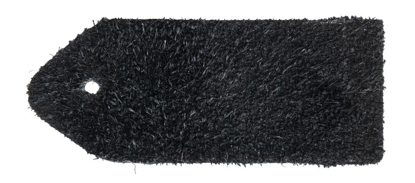 Black leather swatch backside