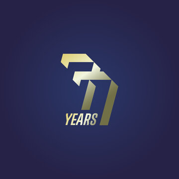 77 years of anniversary celebration logo design