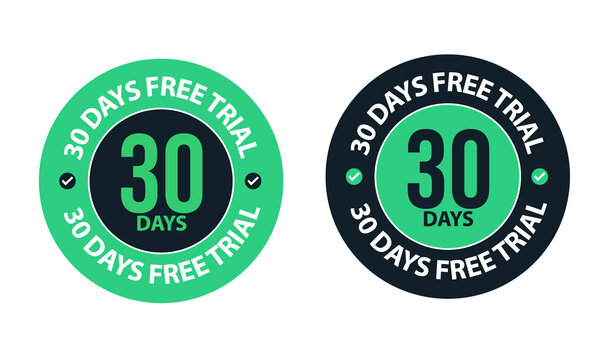 30 days free trial vector icon for software related products