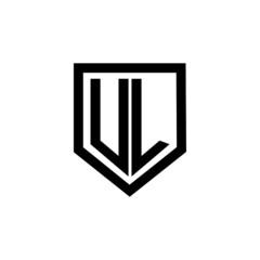 Obraz UL letter logo design with white background in illustrator, vector logo modern alphabet font overlap style. calligraphy designs for logo, Poster, Invitation, etc.  - fototapety do salonu