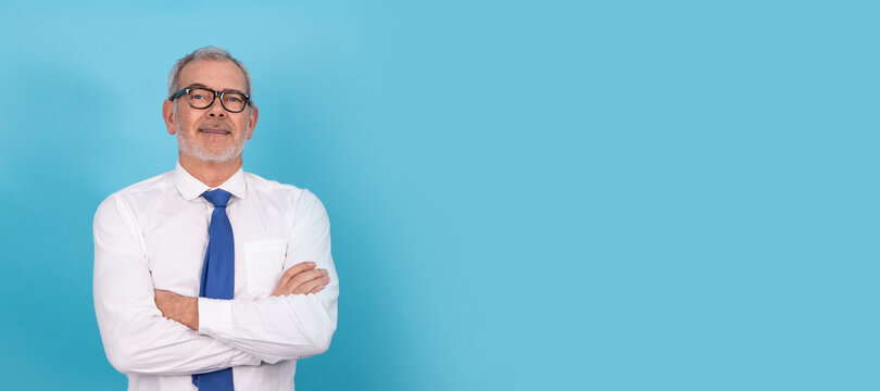 businessman isolated on color background