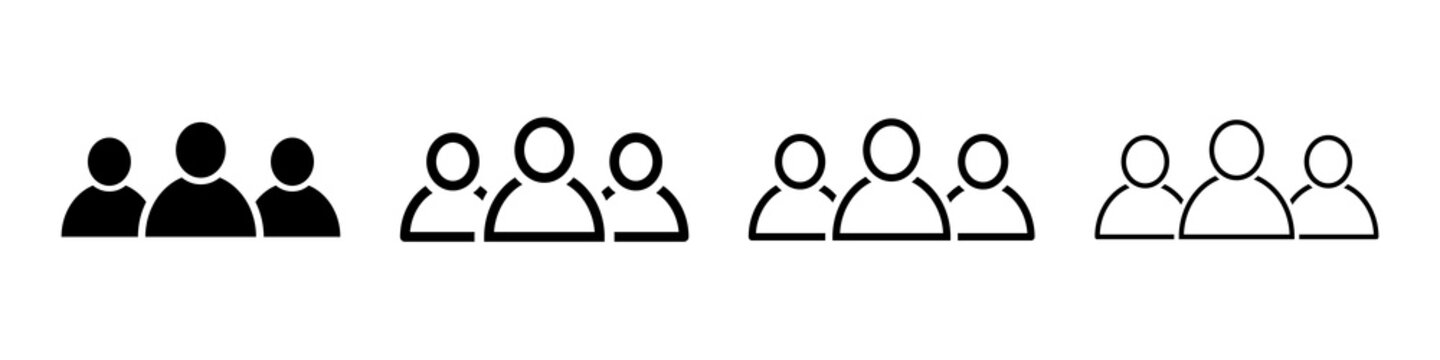 People black icons. People icon, work group, team. Vector illustration.