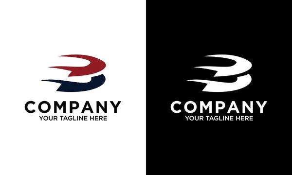 Modern letter 3b gradient logo template
