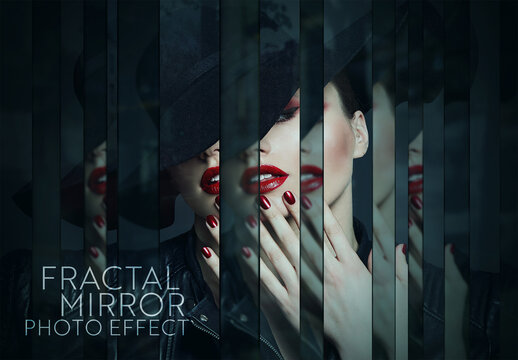 Fractal Mirror Photo Effect Mockup