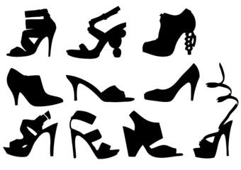 set of shoes - fototapety na wymiar
