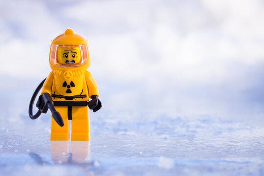 Lippstadt - Deutschland 17. Februar 2021 Lego Biohazard