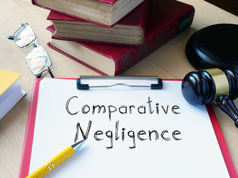 Comparative Negligence is shown on the conceptual photo using the text