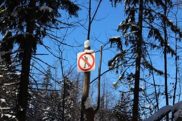 Fototapeta Zakaz przejścia, nie wolno wchodzić obraz
