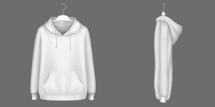 Hoody, black sweatshirt on hanger mock up set