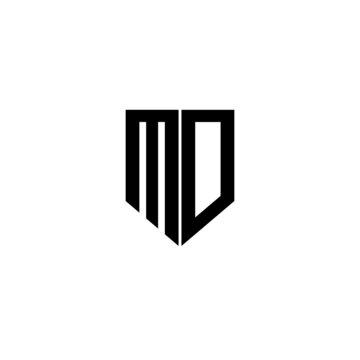 MD letter logo design with white background in illustrator, vector logo modern alphabet font overlap style. calligraphy designs for logo, Poster, Invitation, etc.
