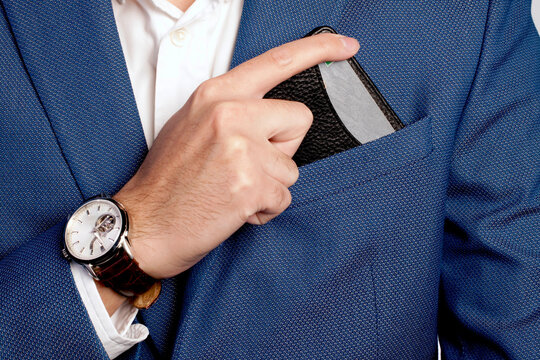Businessman style suit and pocket